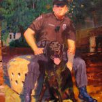 Officer Kuterbach and His Bomb-Sniffing Dog Jake