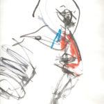 Taiko Drummer Life Drawing